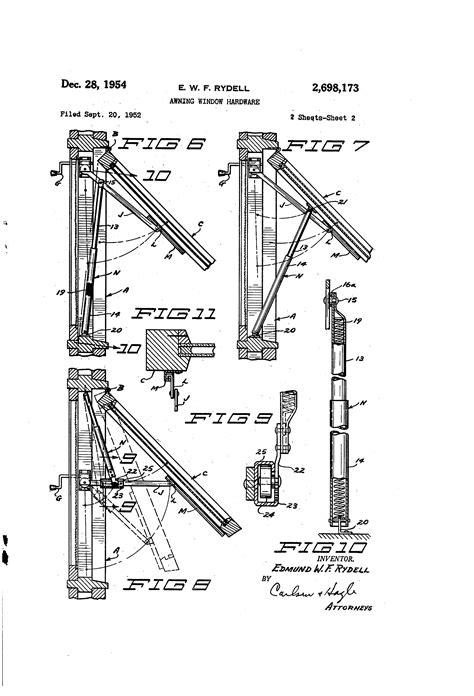 patent  awning window hardware google patents