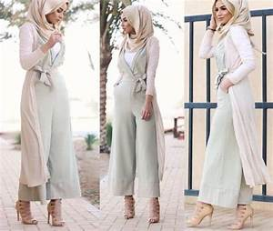 Modest Hijabie Fashion With Jumpsuit Style Abaya Style