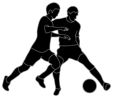 soccer team clipart black and white silhouettes of silhouette clipart