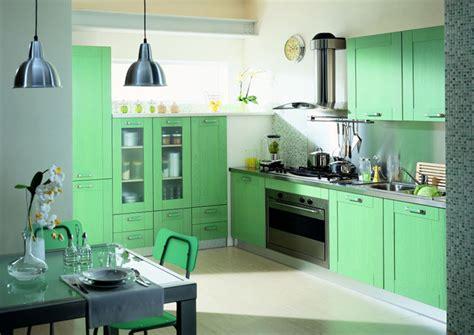 cuisine meuble vert