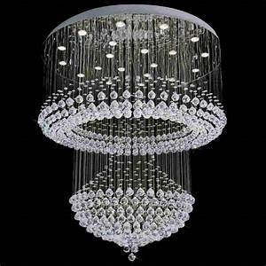 Quot chateaux modern foyer crystal chandelier
