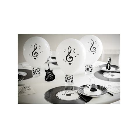 ballons notes de musique blanc noir 23 cm les 8 baiskadreams