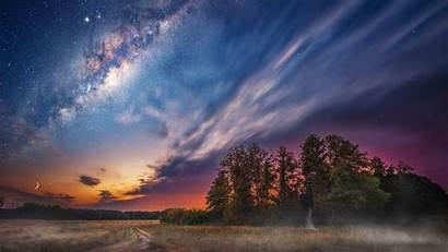 Sky Night Milky Way Stars Desktop Landscape