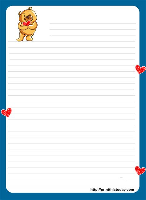 love letter pad printable