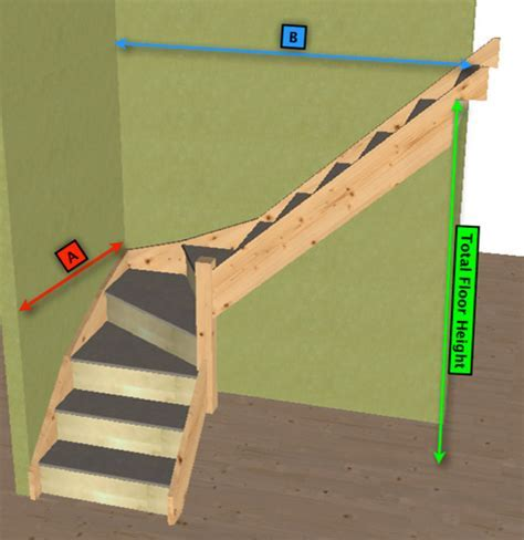 Made to measure 3 kite winder staircase kit (L Shape)   eBay
