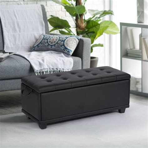 Bedroom Storage Ottoman Bench by Ottoman Bench Storage Bedroom Bench Footrest Upholstered