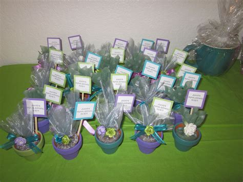 bridal shower mini flower pots  real seeds  growing