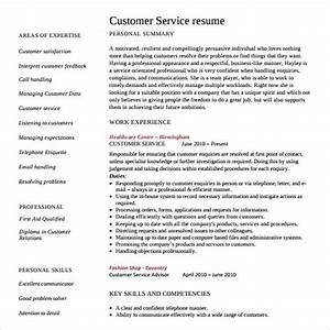 customer service resume 10 download free documents in With customer service sample