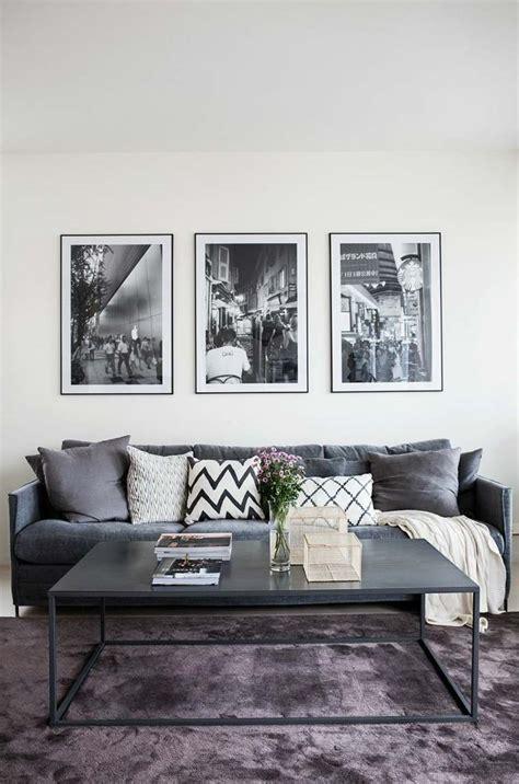 deco salon canape gris idee deco salon et gris solutions pour la