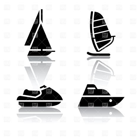 Boat R Icon by Boat Sailing Ship And Jet Ski Water Transport Icons