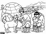 Coloring Inuit Pages Igloo Eskimo Printable Getcolorings sketch template