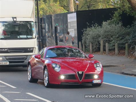 Alfa Romeo 8c Spotted In London, United Kingdom On 10/23/2015