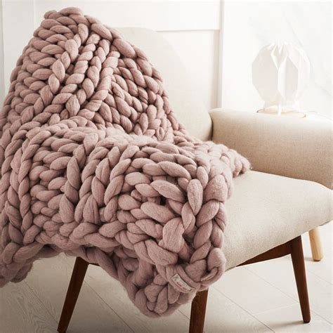 how to knit large blanket welcombe chunky hand knitted throw by lauren aston notonthehighstreet com