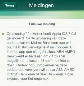 abn amro voor iphone en ipad crasht onder ios