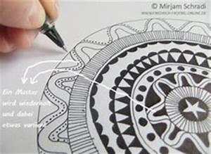 Schöne Muster Zum Selber Malen : mandala malen anleitung f r ein schwarzwei mandala fr bel ~ Orissabook.com Haus und Dekorationen