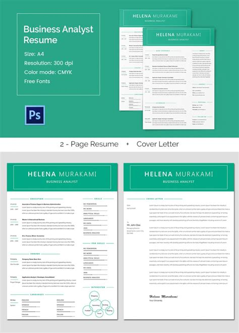 business analyst resume template 11 free word excel