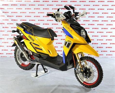 Modifikasi Mio Sporty Menjadi X Ride by 30 Gambar Modifikasi Yamaha X Ride Gaya Trail Cross