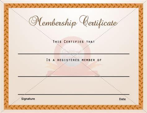 membership certificate template images