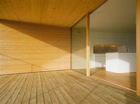 Balcony, Wood Flooring, Walls, Ceiling, Modern Countryside