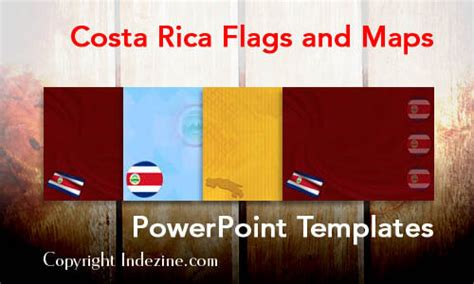 Costa Rica Map Template by Costa Rica Flags And Maps Powerpoint Templates