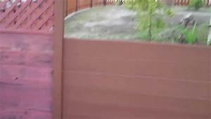 Behr Deckover Chestnut Paint On Old Wooden Fence - Part 2