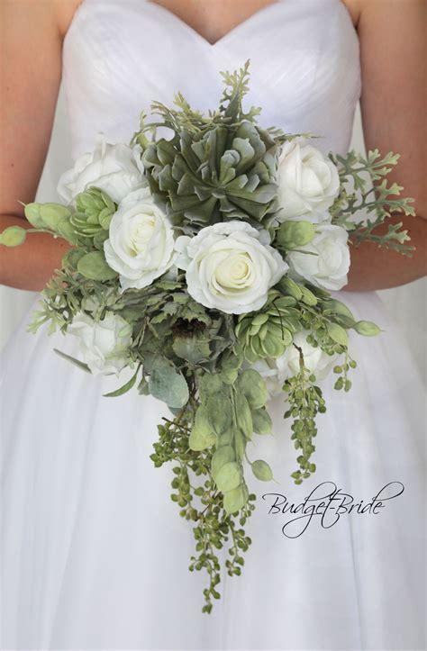 davids bridal fern green wedding bouquet