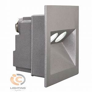 Ixis recessed square led wall light ic lighting
