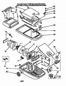 Kenmore Model 1162561190 Vacuum  Canister Genuine Parts
