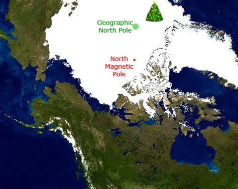 What Does Geographic Location by Does Santa Claus Live At The Geographic Or Magnetic
