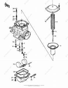 Kawasaki Motorcycle 1980 Oem Parts Diagram For Carburetor