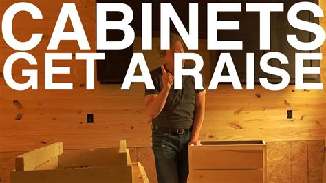 raising kitchen base cabinets cabinets get a raise day 104 the garden home challenge