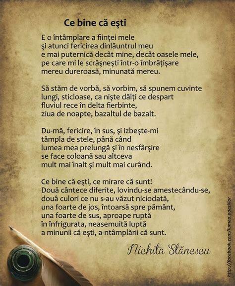 ce bine ca esti nichita stanescu poetry pinterest cas