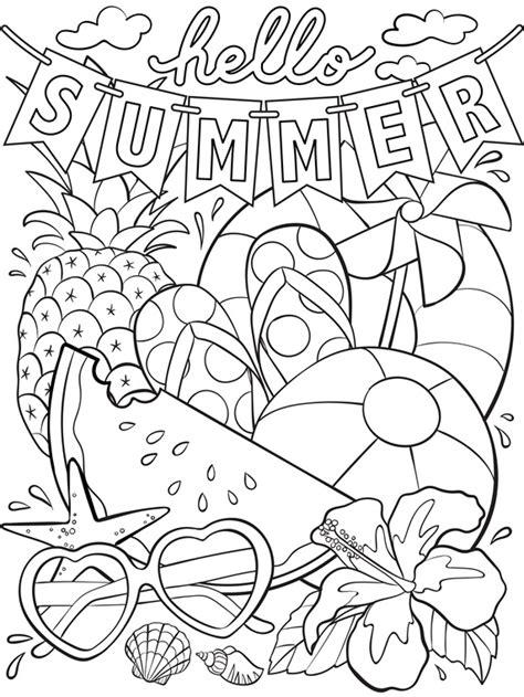 summer coloring page crayolacom