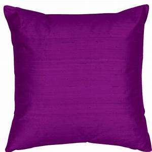 bright purple 18x18 inch silk dupioni square poly insert With bright purple throw pillows