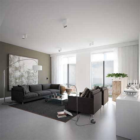 Gray Home Design Ideas by Visualizations From D Designs
