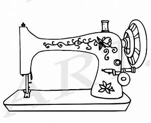 Machine clipart sewing machine - Pencil and in color ...