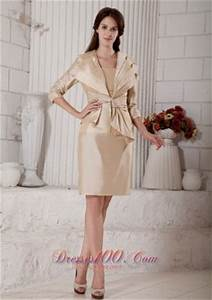 champagne mother in law dresses knee length us13259 With mother in law wedding dresses