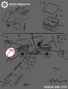 Fan Controller - Atv  Utv  Hisun  800cc - Multi-national Part Supply