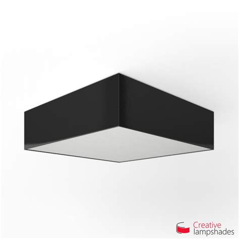 square ceiling l with black lumiere cover