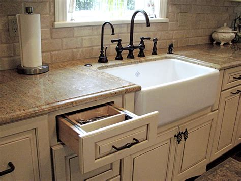 Farm Sink Cabinet by Farmhouse Sink Options For Kitchen Homesfeed