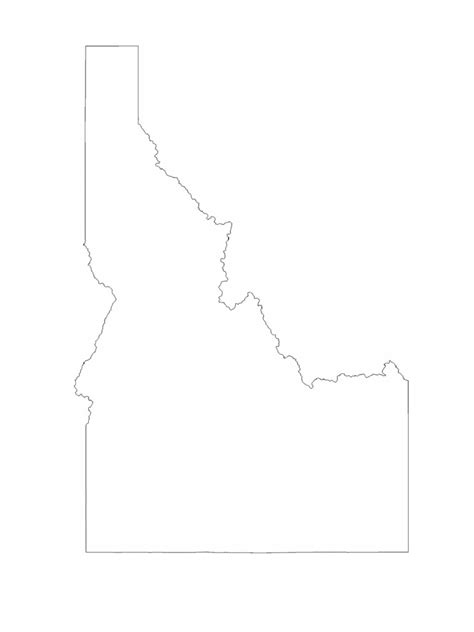 Idaho Map Template - 8 Free Templates in PDF, Word, Excel
