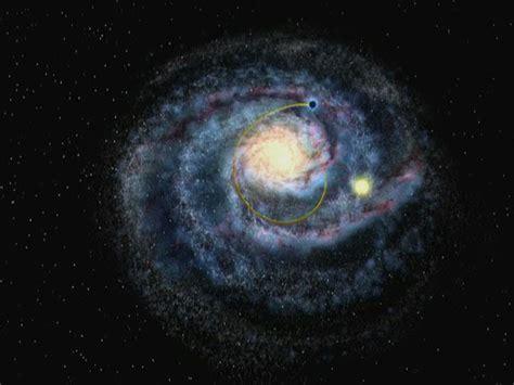 Black Hole Streaking Through The Milky Way Artist
