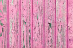 Painted Pink Wooden Planks as Background Stock Photo