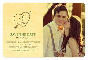 Carved Heart Initials Save the Date ‹ Save the Dates ...