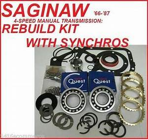 Saginaw Transmission Rebuild Kit With Synchro Rings Fits