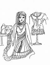 Seamstress sketch template