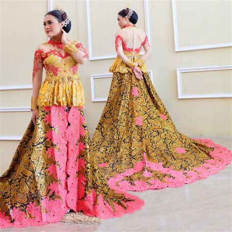 Kebaya Pengantin Modern Jumbo jual kebaya pengantin ekor batik muslim modern di lapak