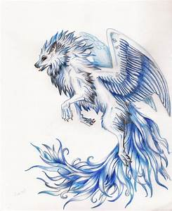 Winged Wolf Drawings | Car Interior Design