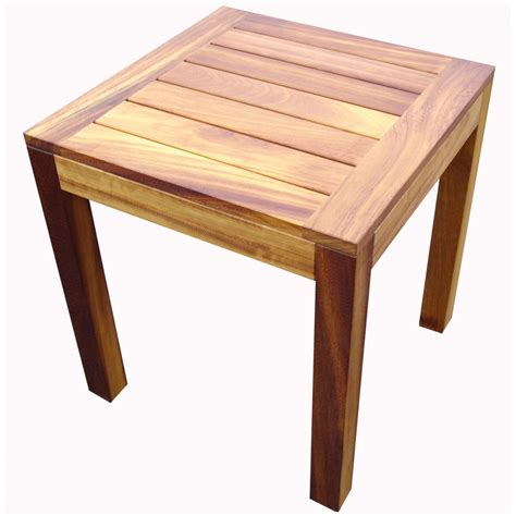 outdoor table restaurant iroko light wood end table from contract uk