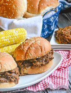 Slow Cooker Texas Style Barbecue Brisket Sandwiches